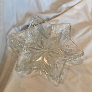 Star Shaped Glass Candy Dish